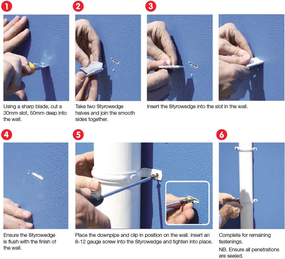 Styrowedge Install