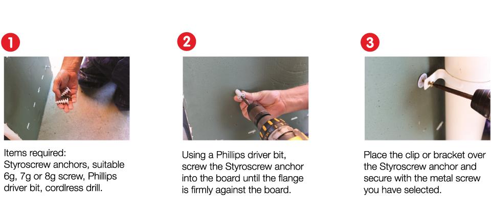 Styroscrew Install